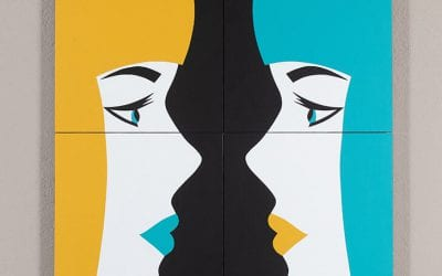 Miroir 1 (Jaune – Turquoise)