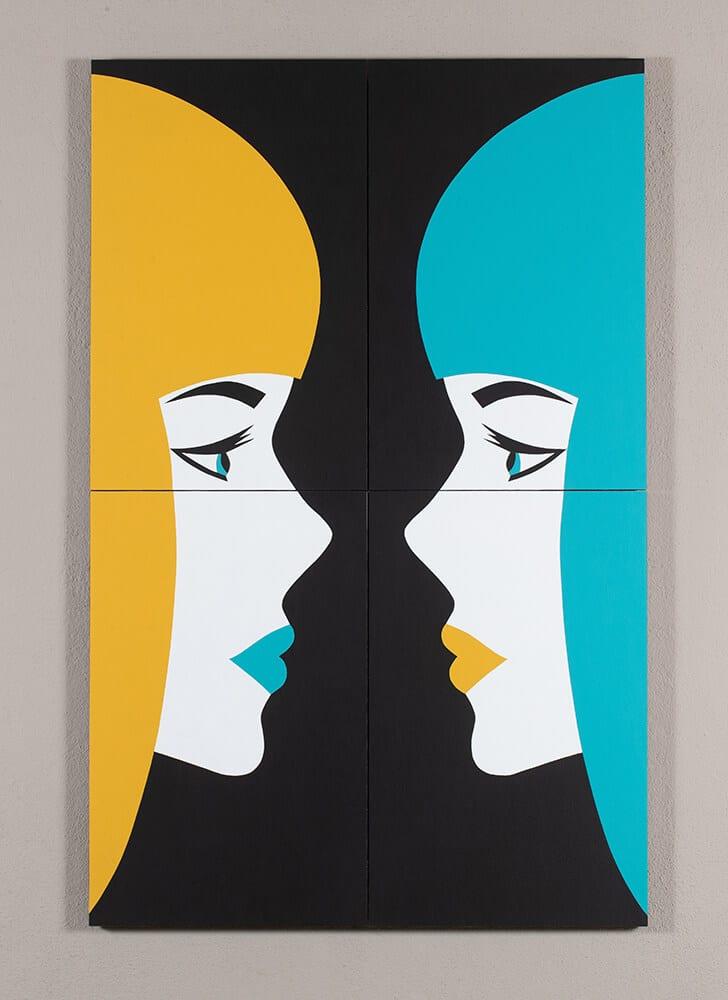 Robert Magnin Créations Miroir Jaune Turquoise 1