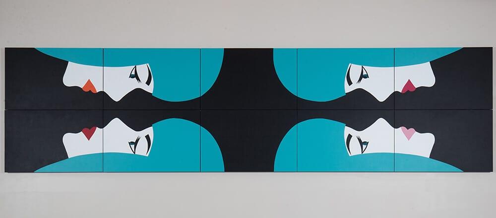 Robert Magnin Créations Miroir Turquoise 10 modules 1