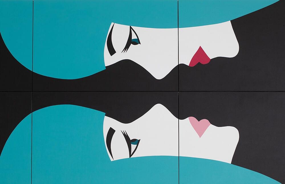 Robert Magnin Créations Miroir Turquoise 10 modules 4