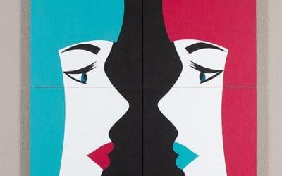 Miroir 1 (Turquoise – Fuchsia)