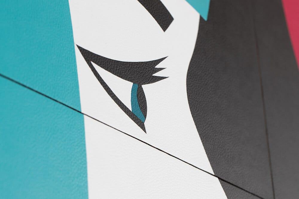 Robert Magnin Créations Miroir Turquoise Fuchsia 2