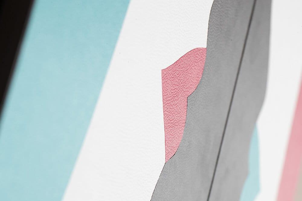 Robert Magnin Créations Miroir Turquoise Fuchsia 4