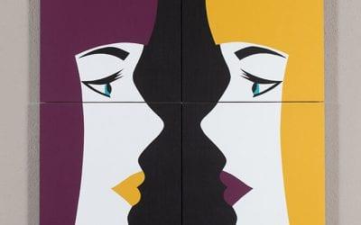 Miroir 1 (Violet – Jaune)