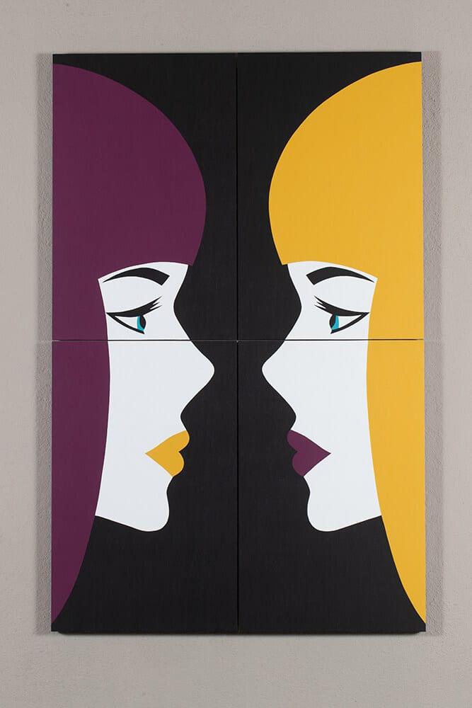 Robert Magnin Créations Miroir Violet Jaune 1