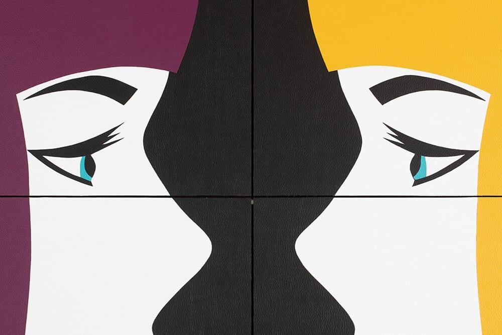 Robert Magnin Créations Miroir Violet Jaune 4